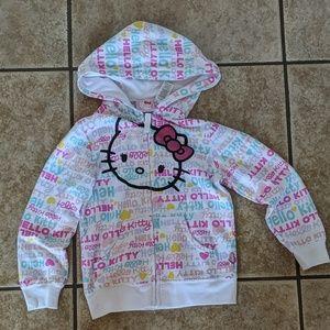 3/$15 girls HELLO KITTY hoodie sz S (6/6x)